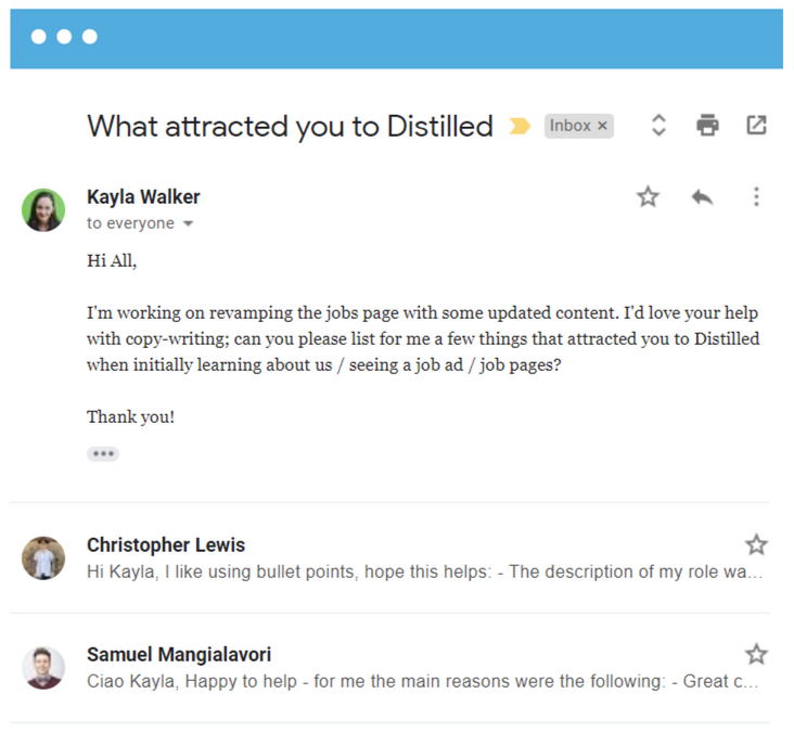 What attracted you at Distilled