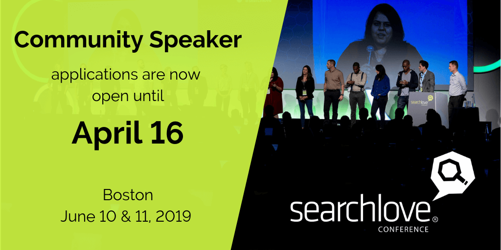 Distilled seeking less experienced speakers for SearchLove Boston