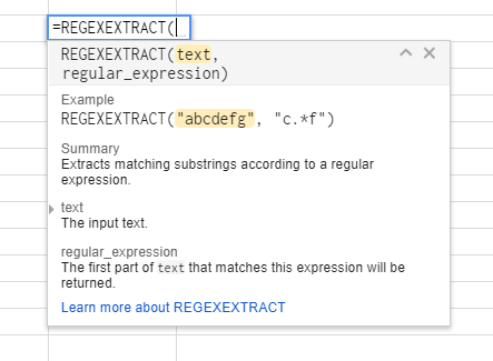 How to Use REGEX Formulas in Google Sheets | Distilled