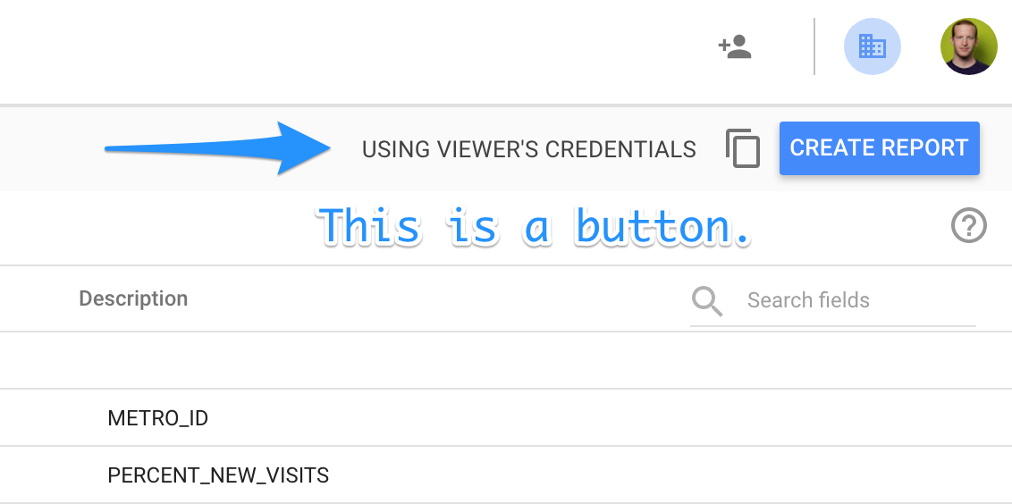 Google Data Studio: How sharing and credential permissions