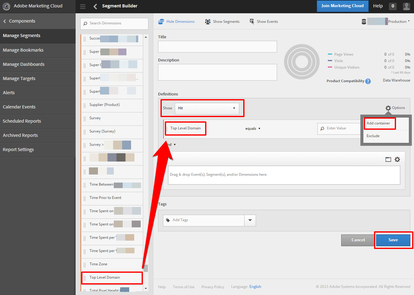 omniture segment builder