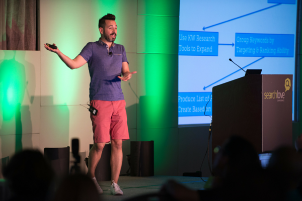 Rand Fishkin on stage at SearchLove San Diego 2014