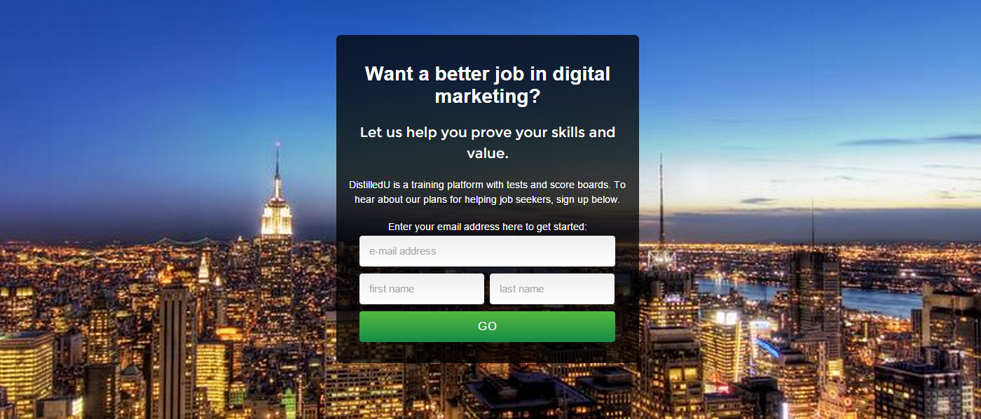 want a better job in digital marketing distilled our online training platform distilledu offers learning materials that help marketers around the world to level up in search people have long been using