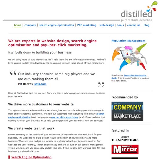 The new Distilled website design