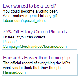 More Political Adwords