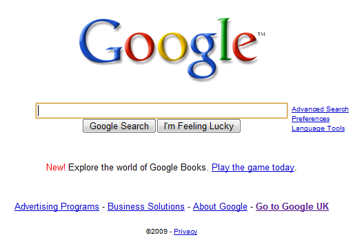 Google screen shot