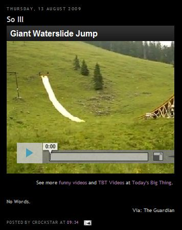 Waterslide Jump from Crockstar Site