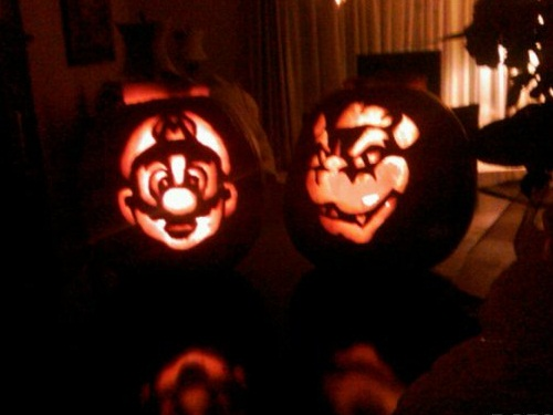 Mario and Bowser Pumpkin