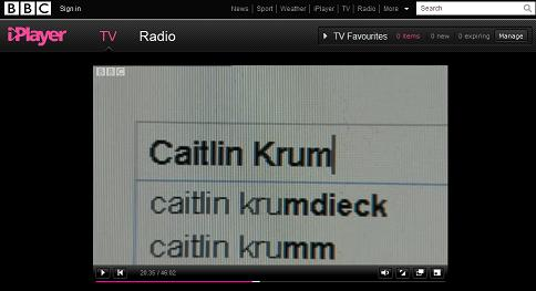 Google Search for Caitlin Krumdieck