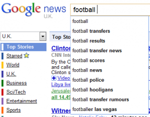Football Google News Suggest