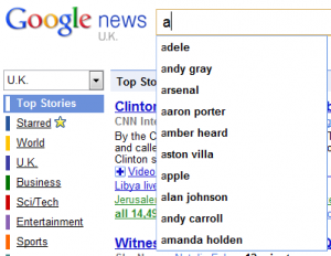 Broad Google News Suggestions
