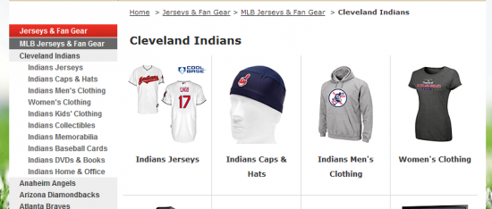 landing page for cleveland indians sweatshirt query