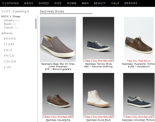 landing page for men's SeaVees boots query