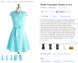 Soda Fountain Dress in Ice