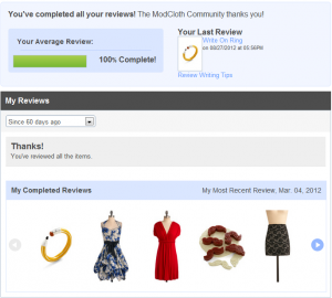 ModCloth Reviews Area