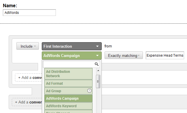 AdWords and Multi-Channel Funnels