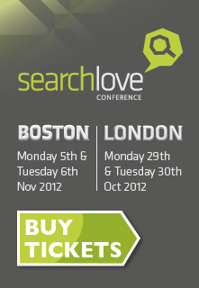 SearchLove Conference 2012 - get your early bird ticket!