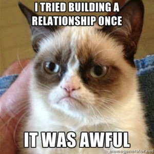 Grumpy Cat Relationship Building