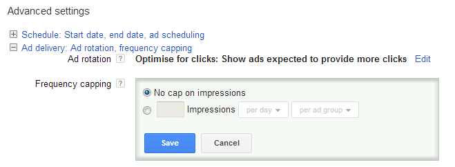 How to limit the number of times AdWords runs your display ads.