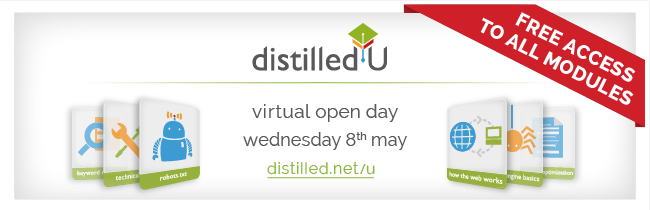 DistilledU virtual open day, 8th March