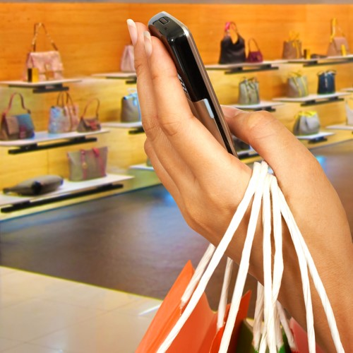 mobile shopping in stores